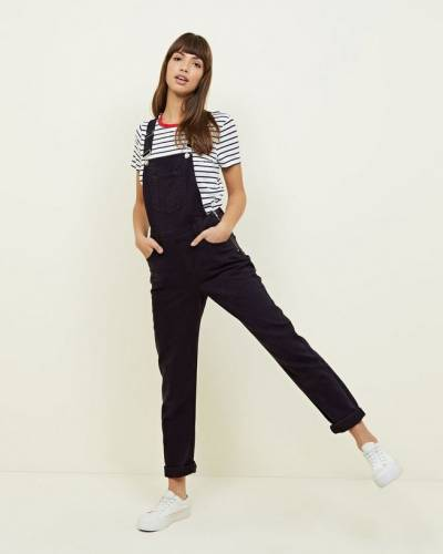 black-straight-leg-denim-dungarees