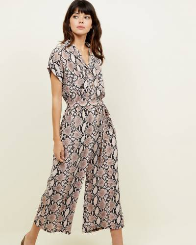 brown-snakeskin-print-jumpsuit