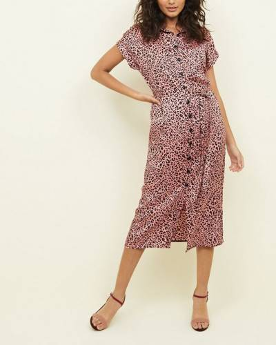 pink-leopard-print-satin-midi-shirt-dress
