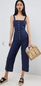 asos denim jumpsuit