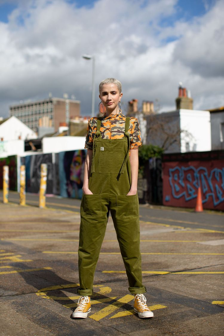 Lucy_Yak olive dungarees