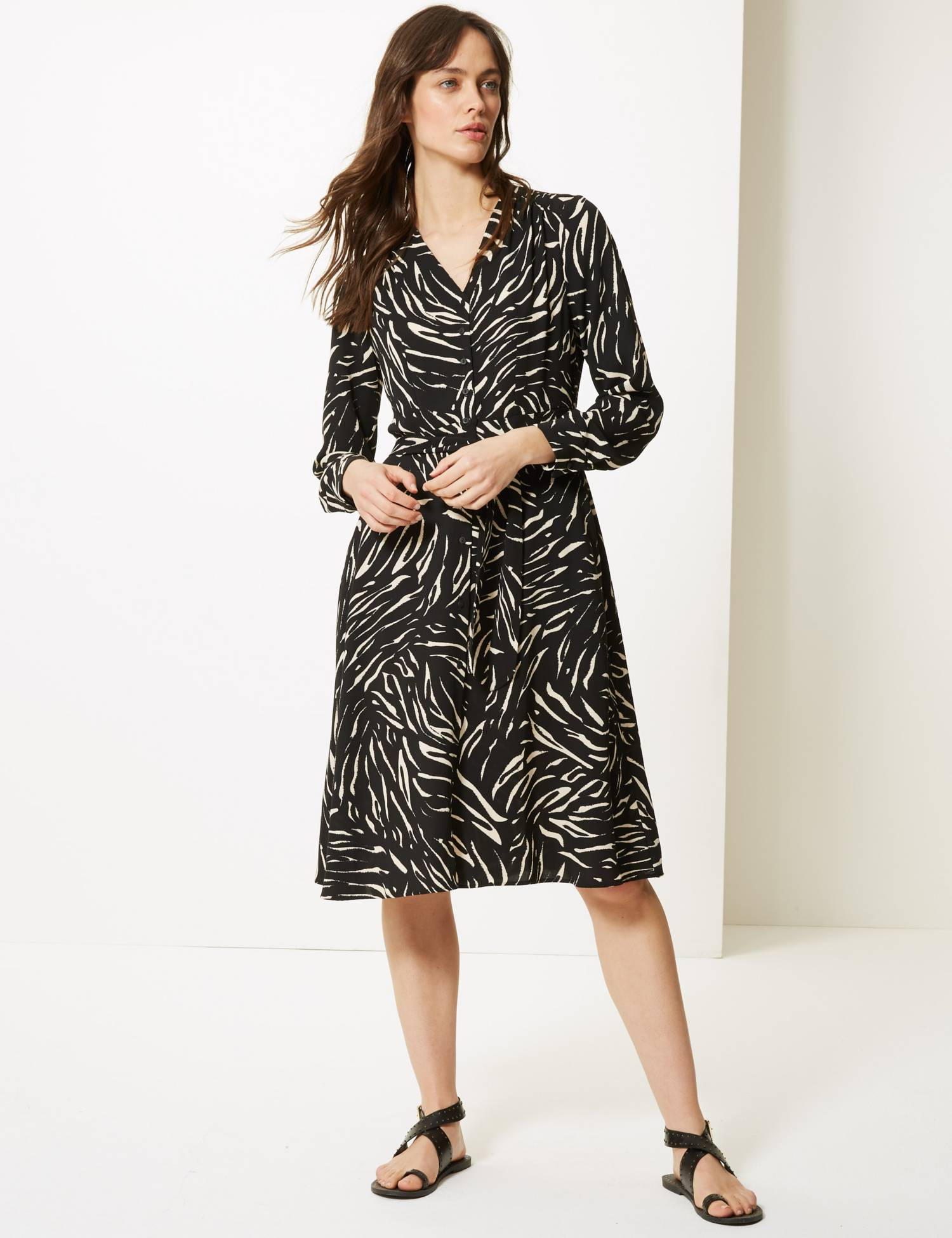 M&S animal print dress