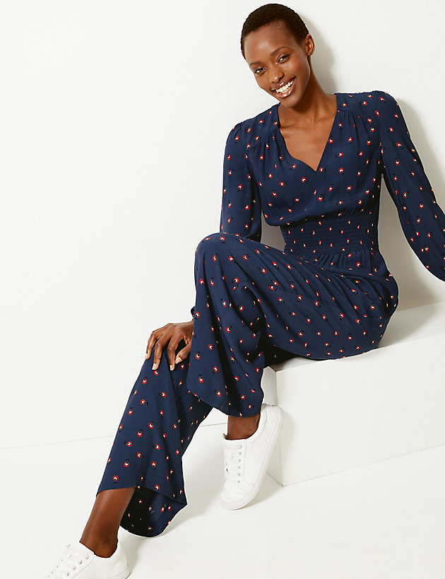 M&S frill waisted jumpsuit