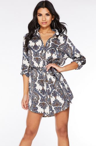 quiz shirt dress