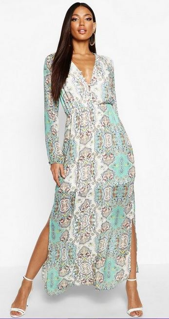 Boohoo boho dress