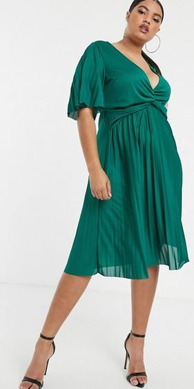 asos kimono pleat dress