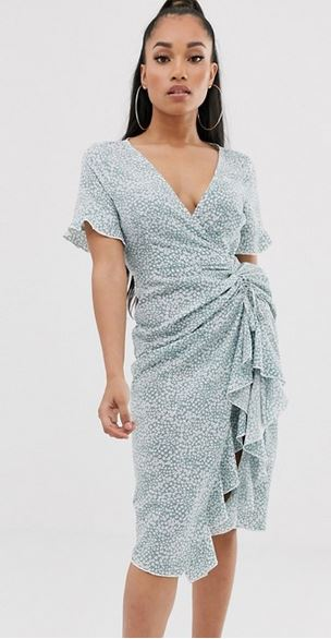 missguided midi tea dress