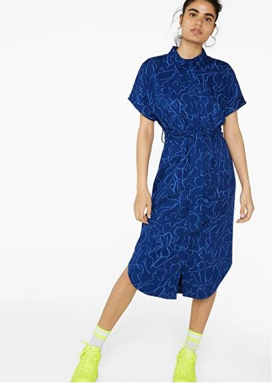 monki hidden button dress