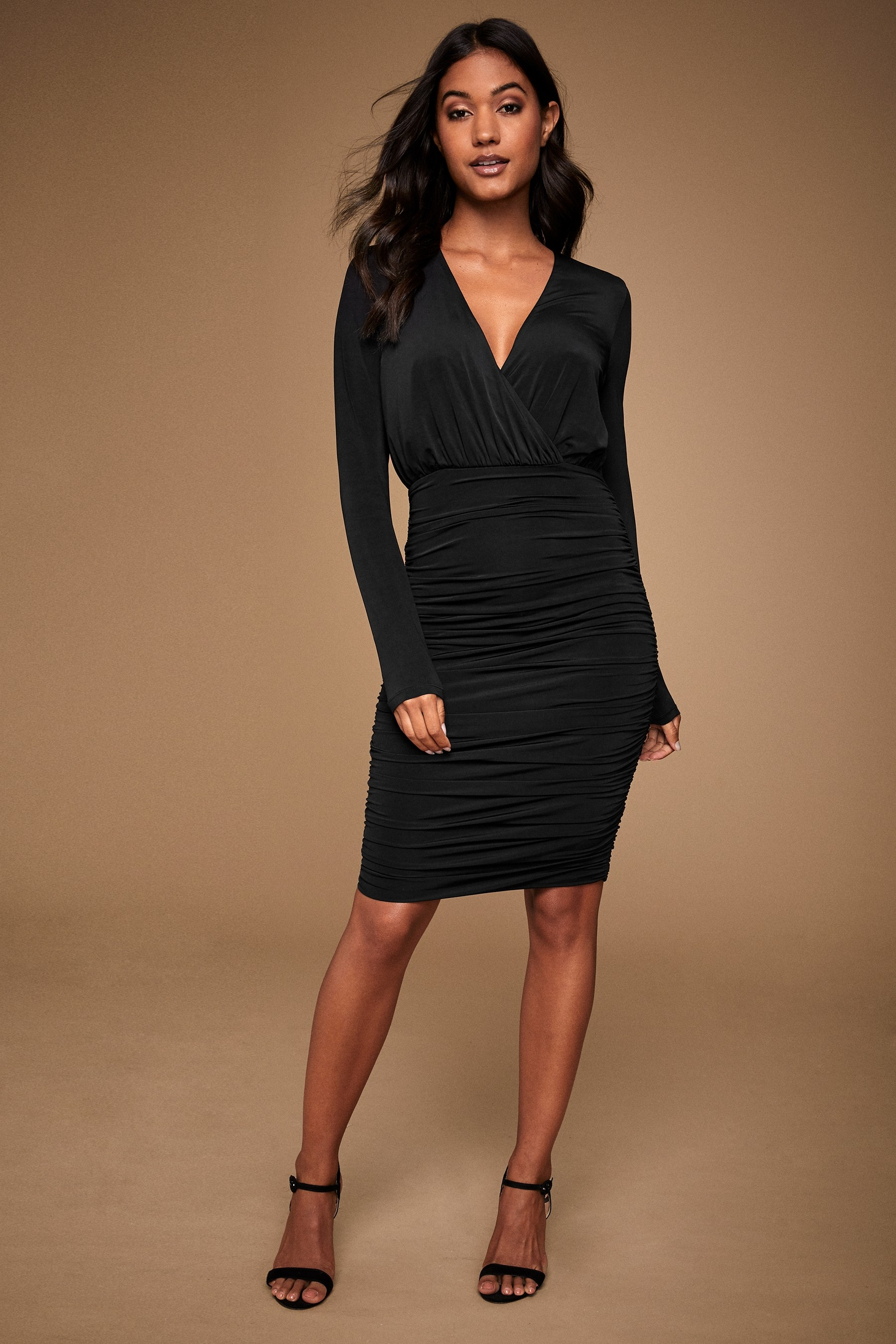 lipsy ruched dress