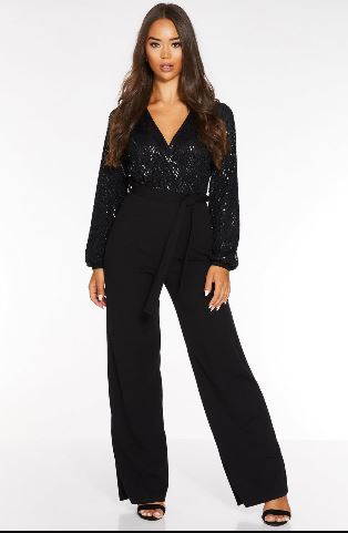 quiz sequin jumpsuit