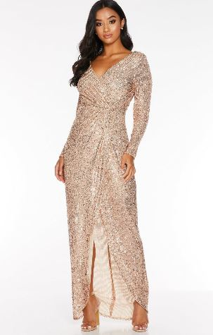quiz sequin maxi