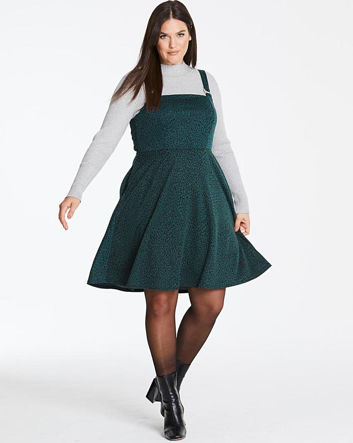 simply be green pinafore dress