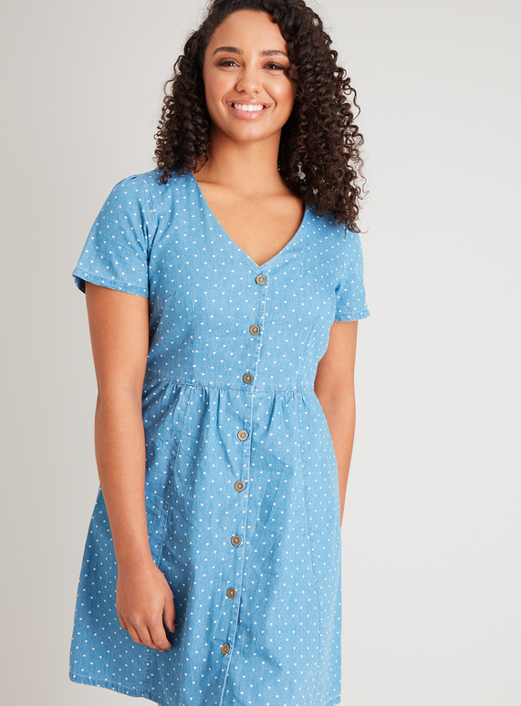 Tu denim heart dress