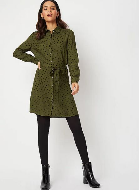 george khaki shirt dress