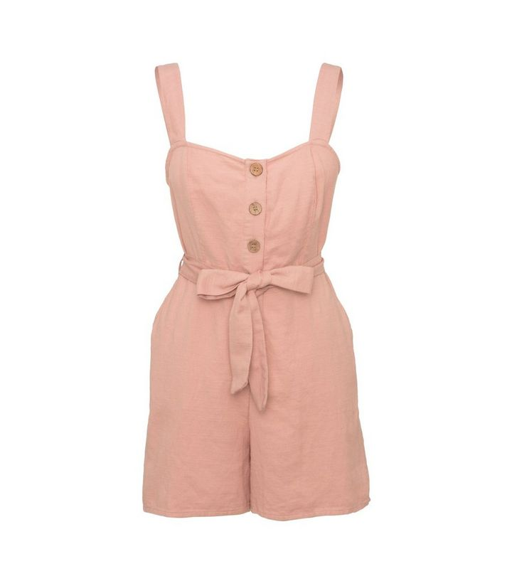 pale-pink-button-front-tie-playsuit
